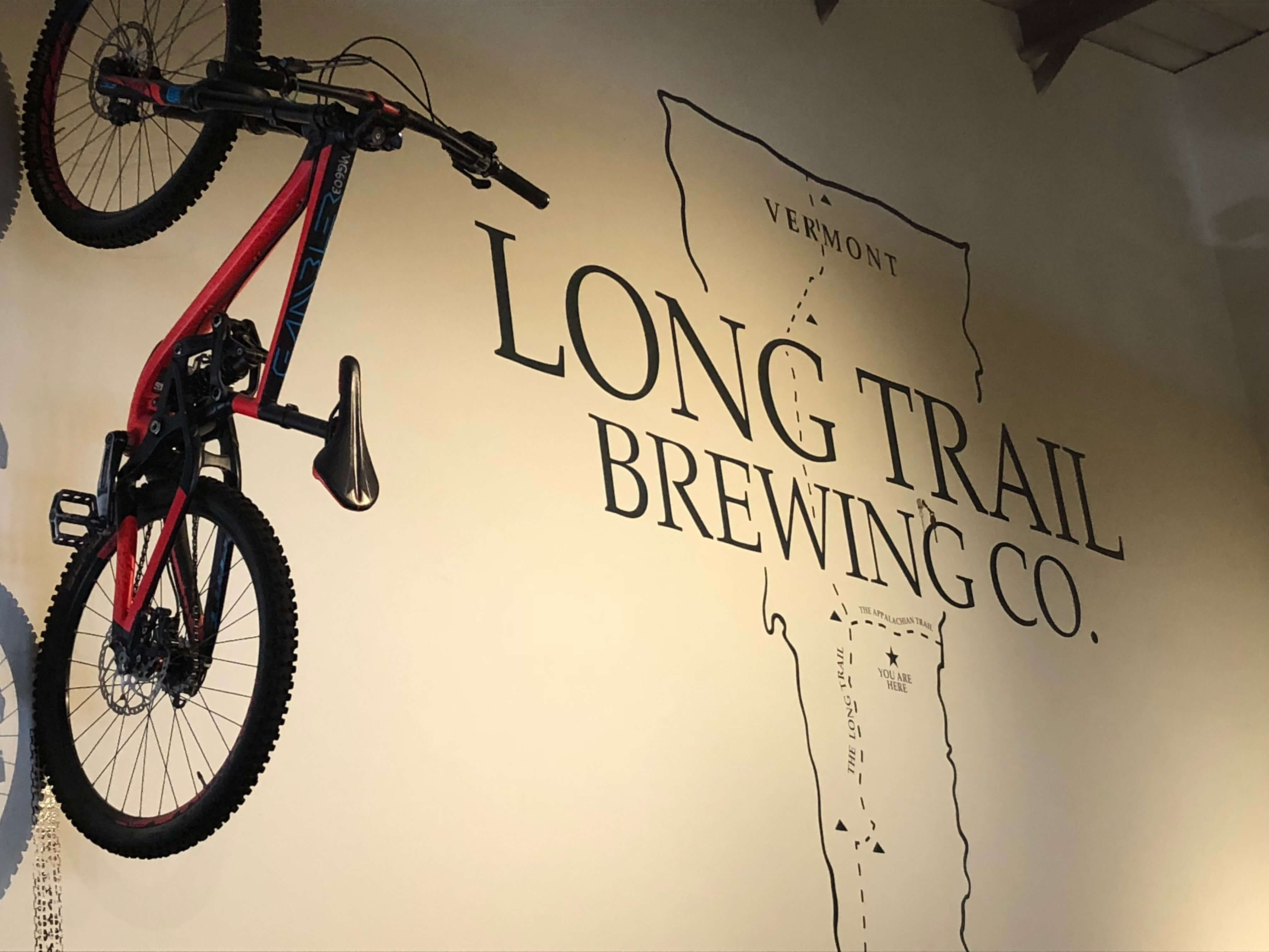 long trail brewery signage