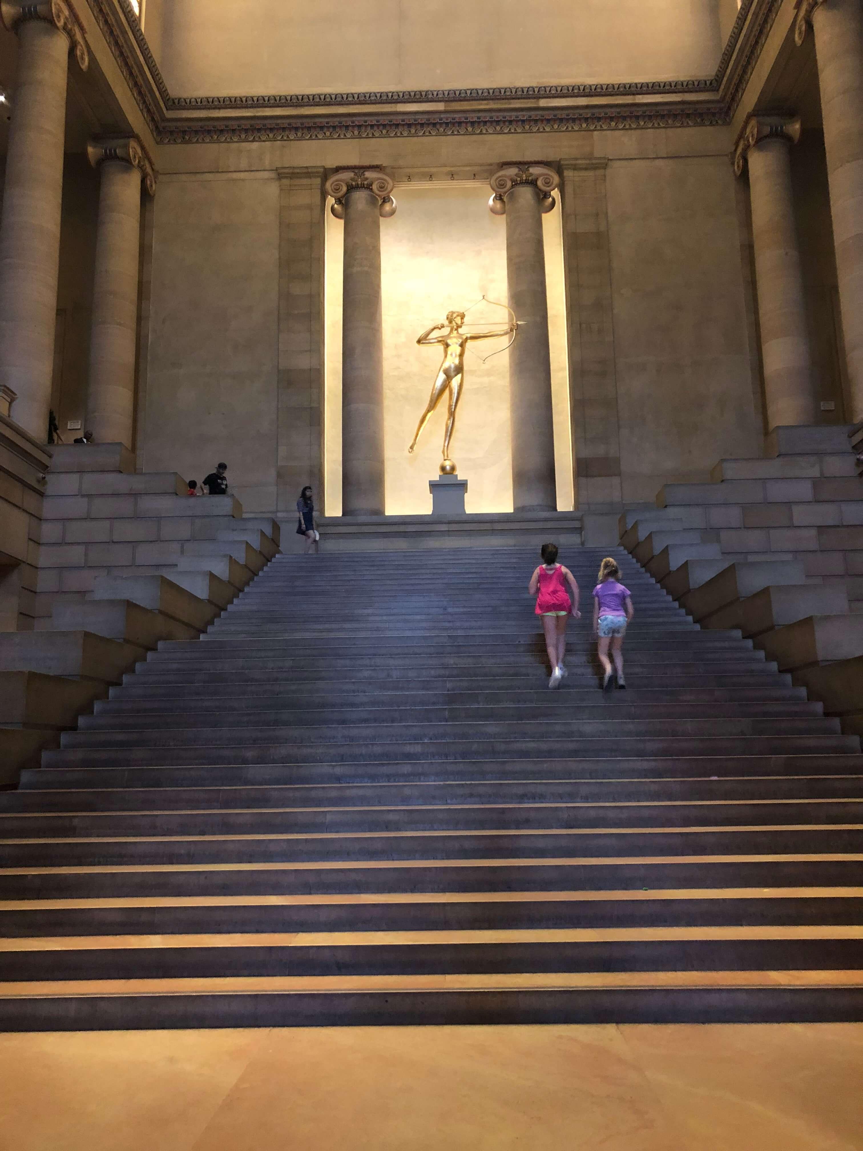 stairs at . Philadelphia Museum of Art