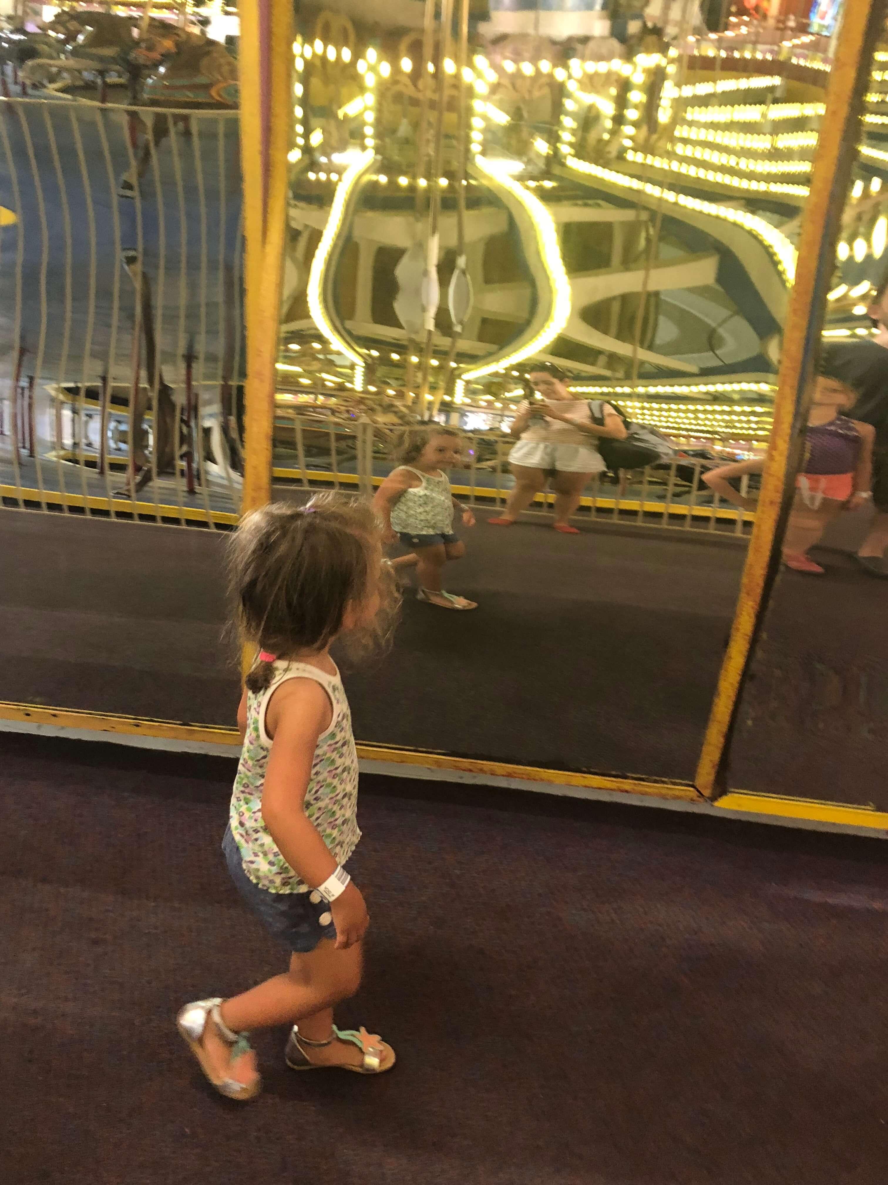 mirrors Casino Pier Breakwater Beach