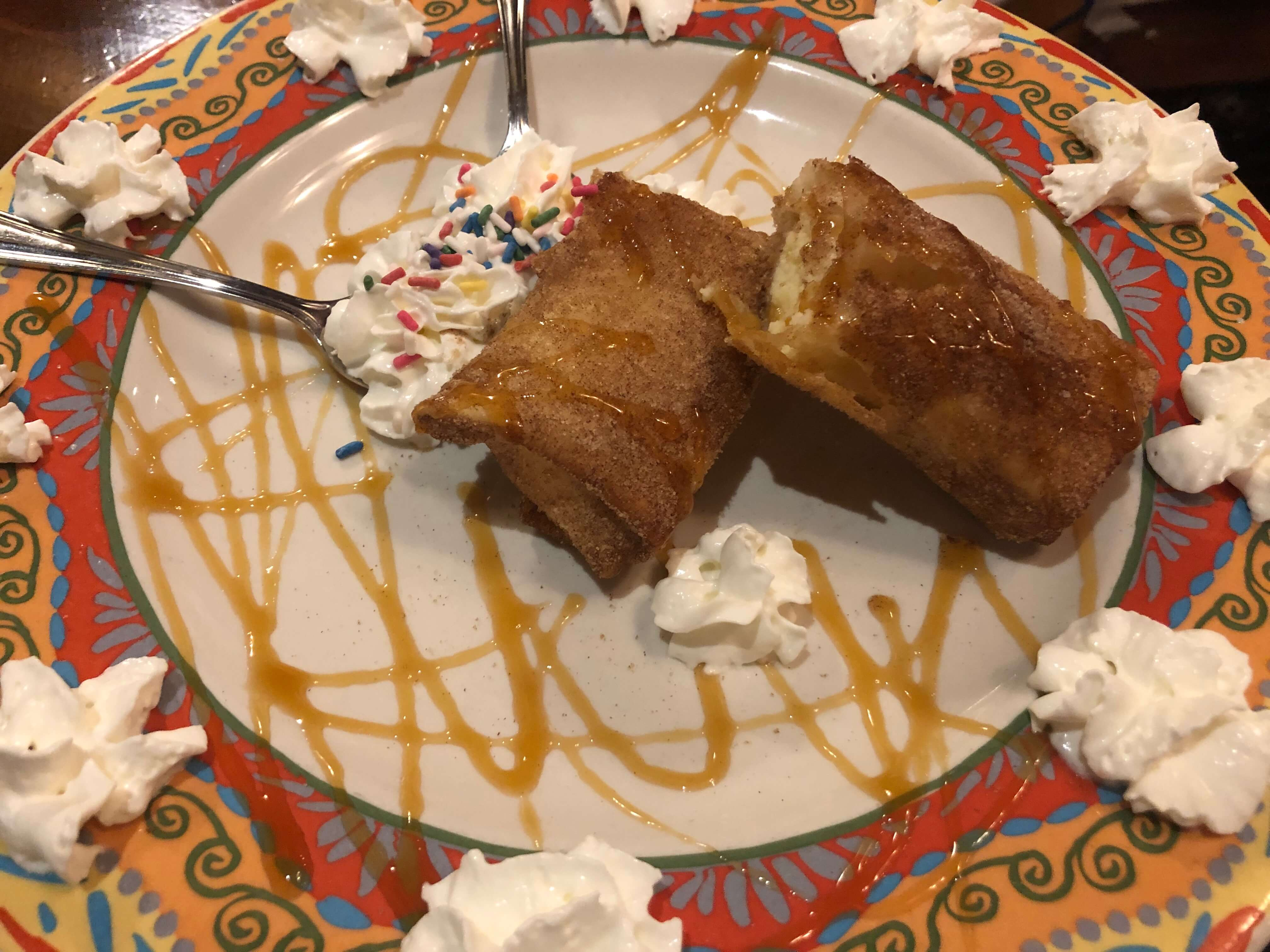 dessert at blue mexican cafe