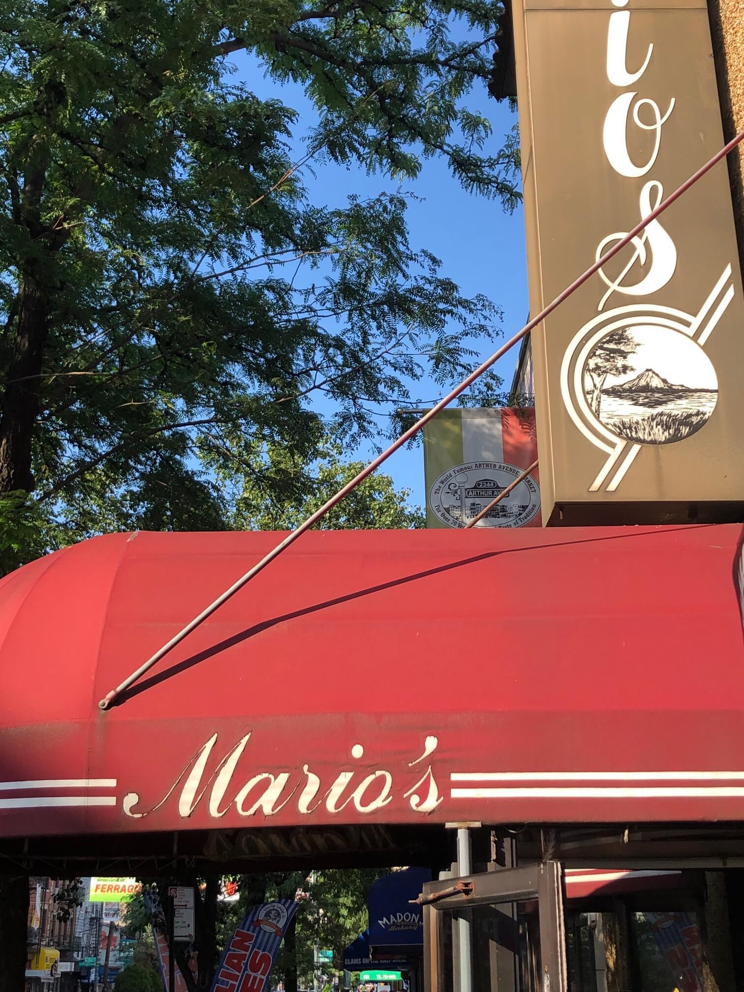 Mario's restaurant in the Bronx
