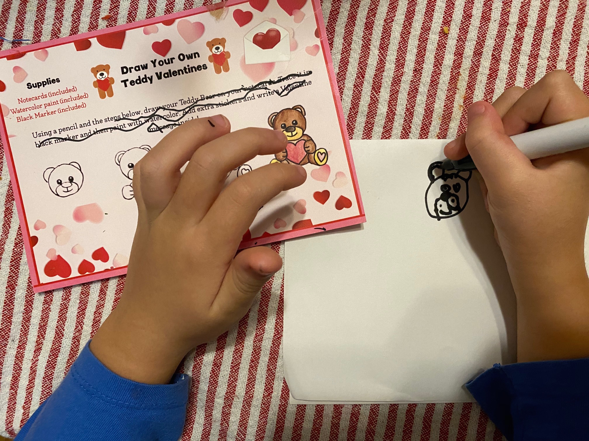 e Valentine's Day cards using their teddy bear I am a Chef too