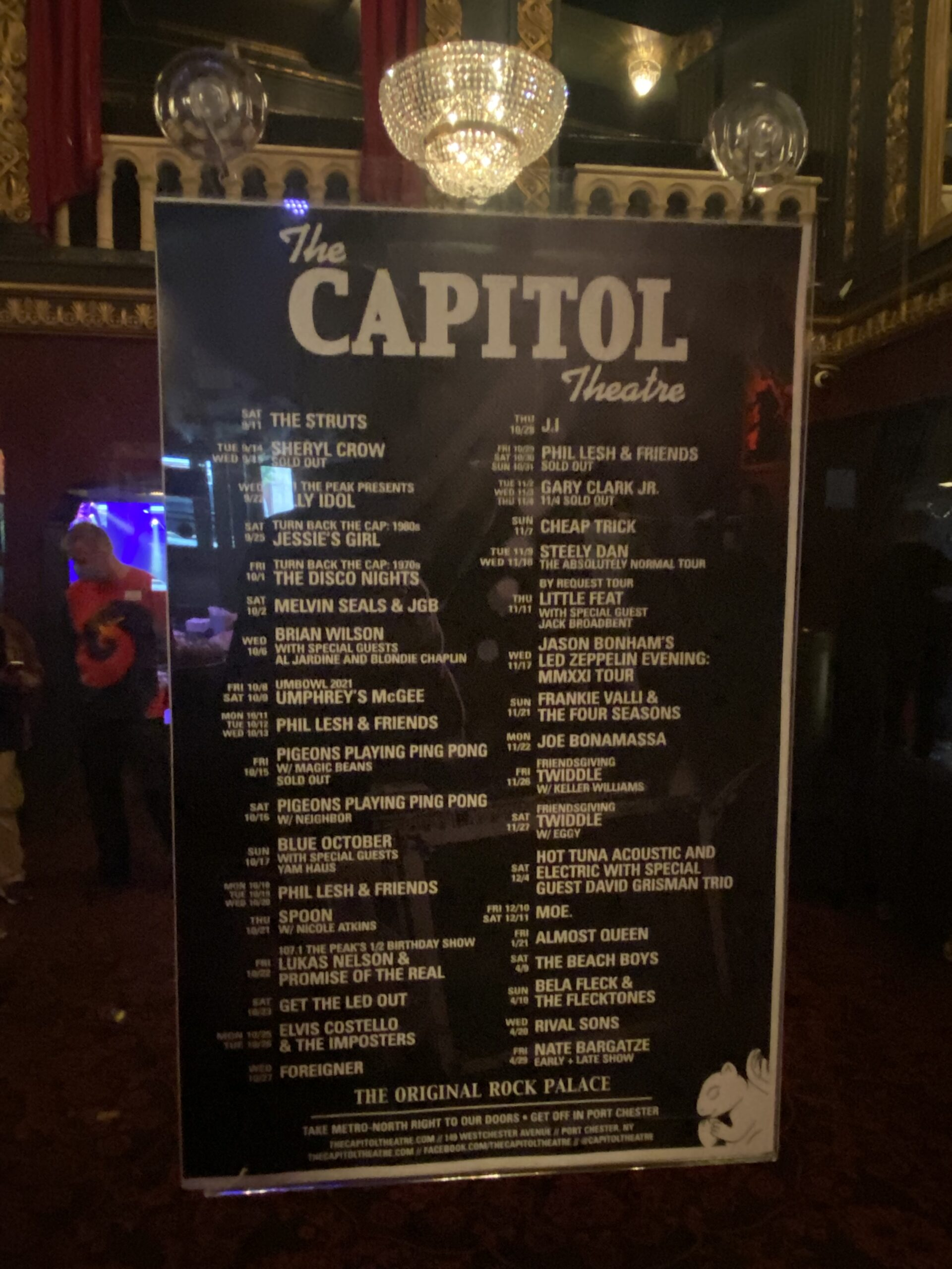 Capitol Theater line-up