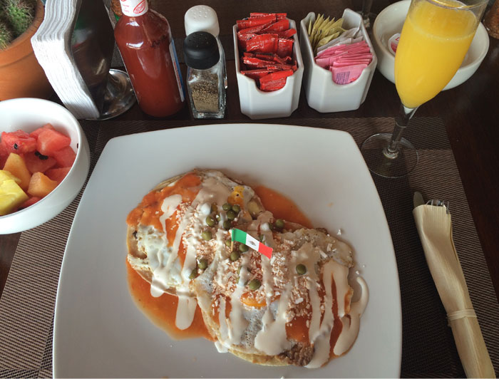 Mexican breakfast at Posada Luna del Sur, hotel in Tulum | TheWeekendJetsetter.com