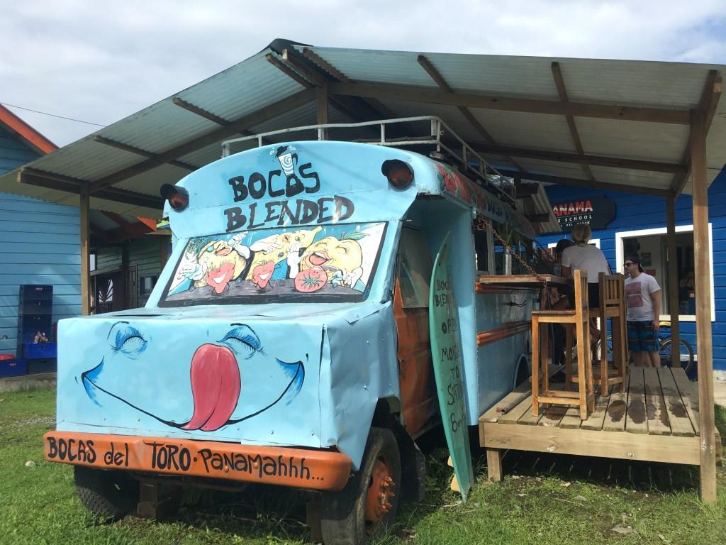 Bocas Blended - Restaurant in a Bus in Bocas del Toro | TheWeekendJetsetter.com