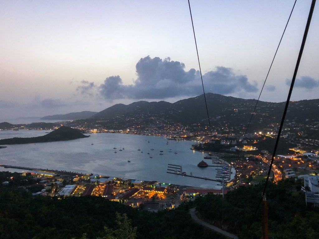 Sunset at Paradise Point, St. Thomas | TheWeekendJetsetter.com