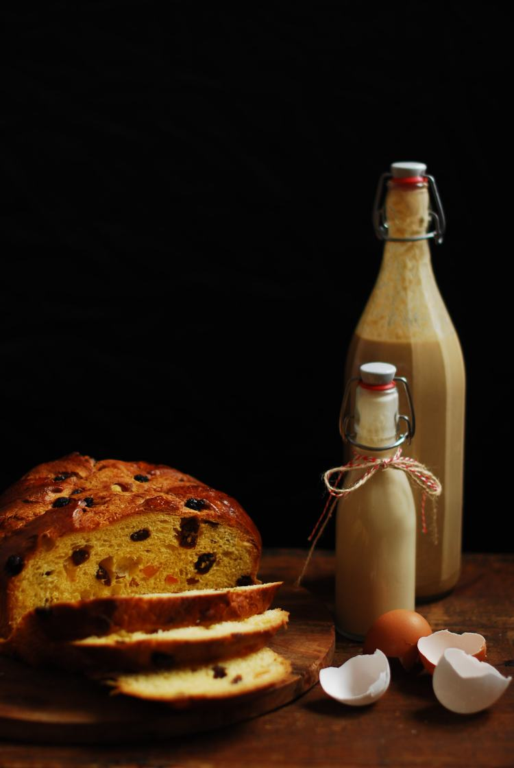 Best to use eggnog and panettone that are a few days old.