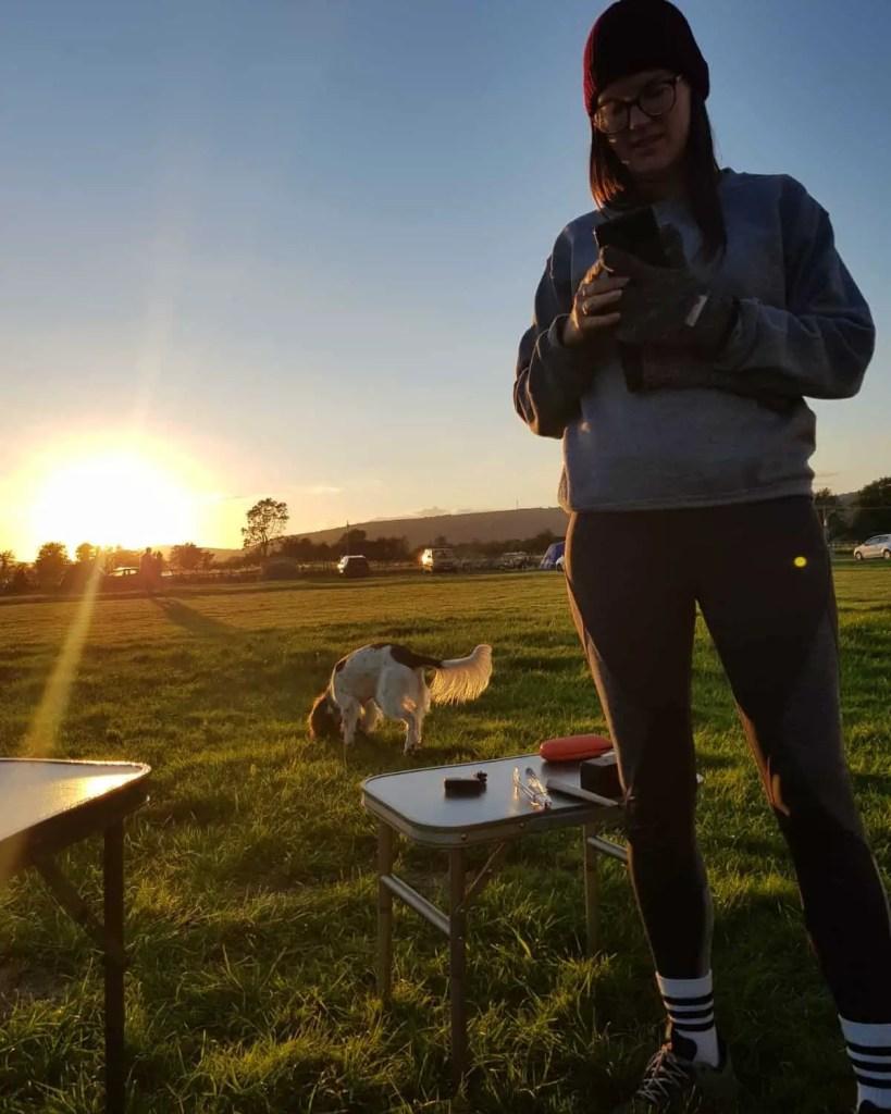 sunset at petruth paddocks campsite