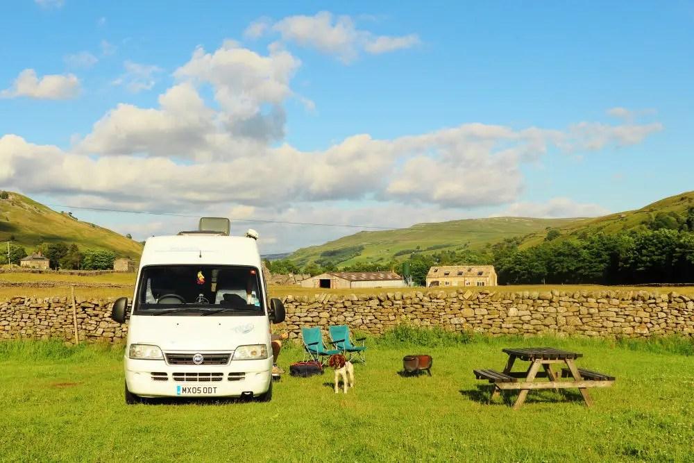 usha gap campsite in the sun