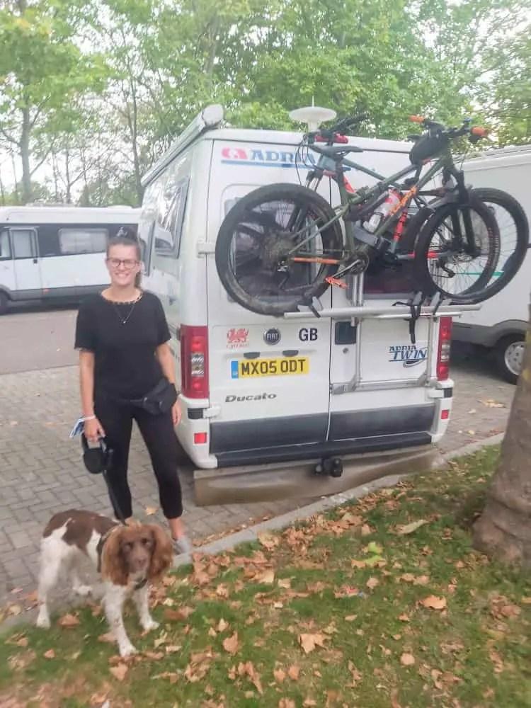 Parked up at Wohnmobil Stellplatz Freiburg