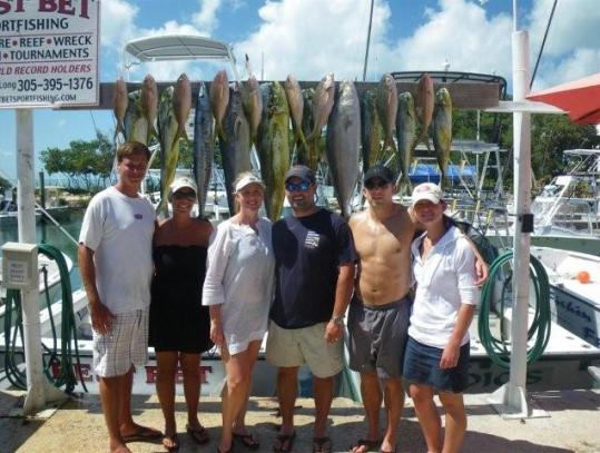 A mixed bag of quality fish (dolphin, wahoo, yellowtail, amberjack) caught aboard the Best Bet this past week.
