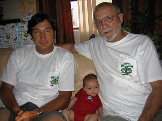 Happy Father's Day to my dad, Grandpa Koler. Pictured with me and Josh