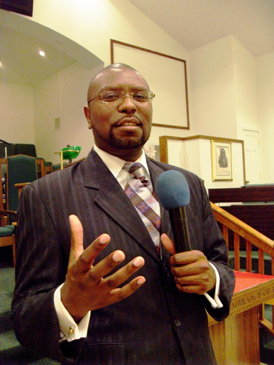 Pastor Sinclair Forbes of Bethel AME Church