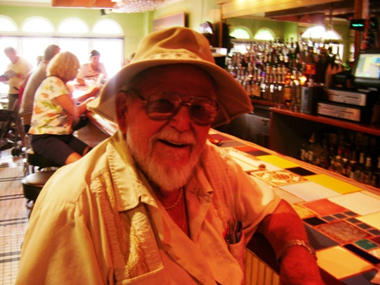 For anyone willing to help Sam fulfill his dream: please email josie at keysweekly dot com, or look for him on Duval Street. He resembles a famous writer.