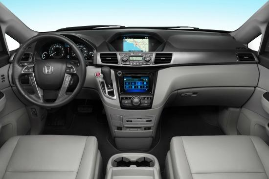 The 2014 Odyssey has a less complicated interior design.