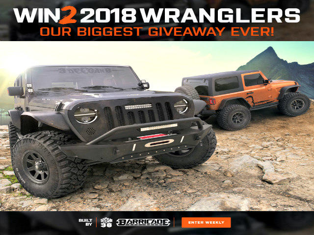 Two 2018 JL Jeep Wrangler models set for giveaway