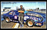 Henry Giselle Roberson born to be a drag racer