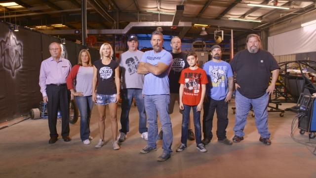 David Ankin (center) and his colleagues from the automotive reality show, ToyMakerz.