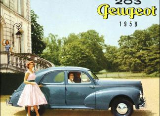 The 1958 Peugeot, the carmaker's first year in the United State.