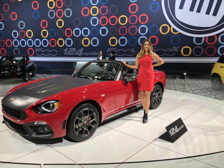 Ambassadors represent auto manufacturers at the LA Auto Show.