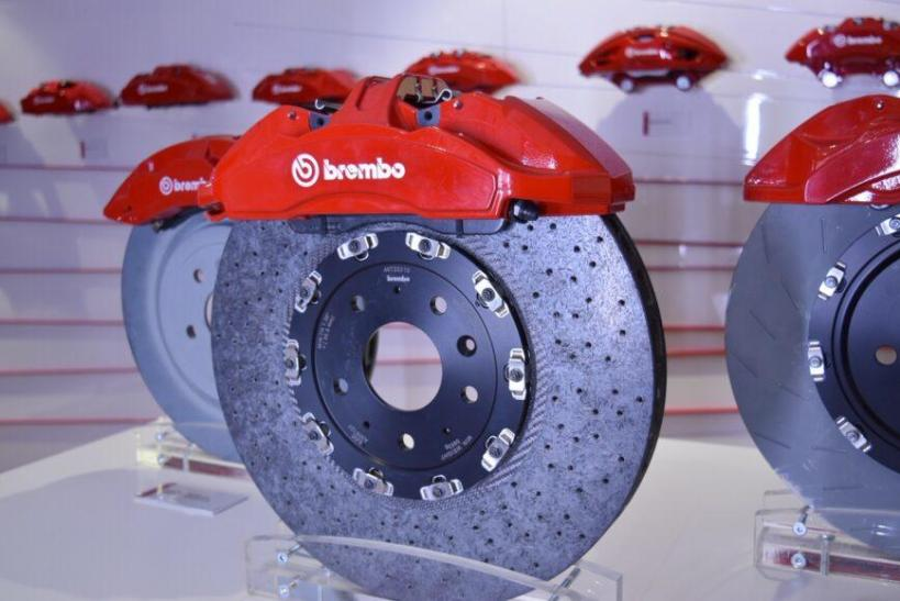 Brembo is showcasing its braking systems at the LA Auto Show. Image © Bruce Aldrich/2019.