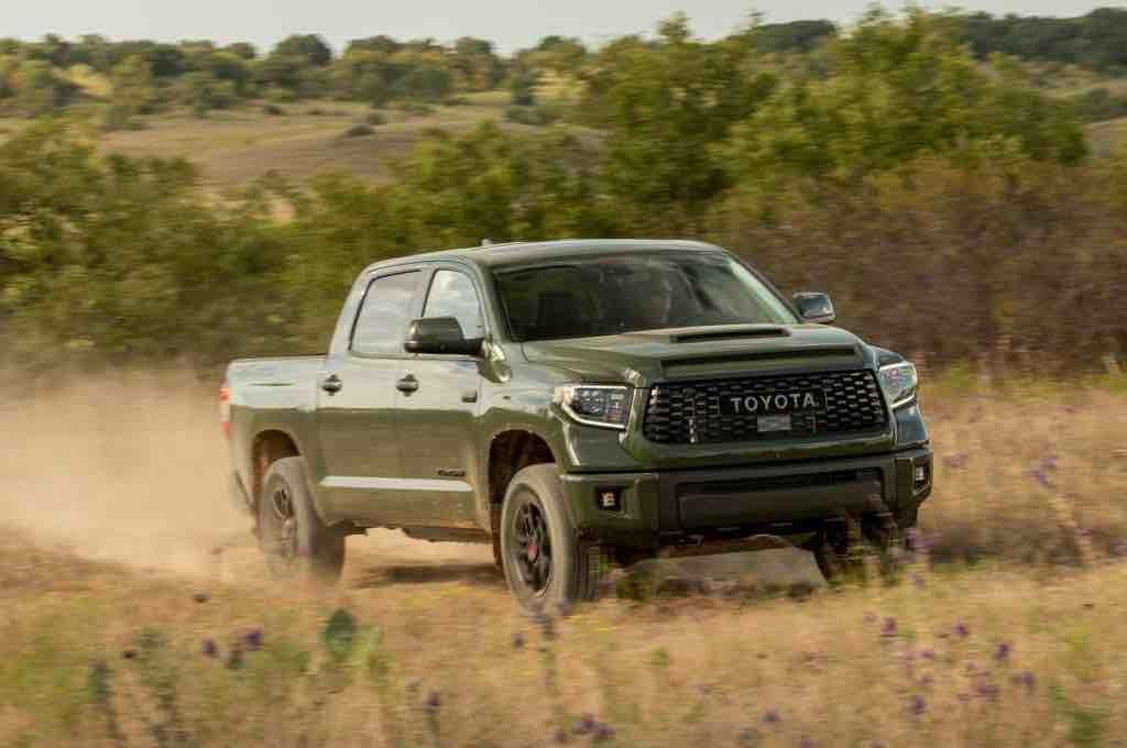 The 2020 Toyota Tundra in its ideally suited Army Green.
