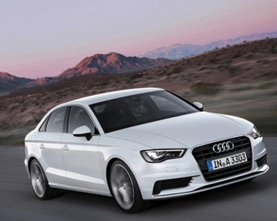 The sporty styling of the 2015 Audi A3.