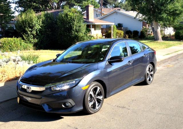The 2016 Honda Civic is wider and longer and has an extended wheelbase.
