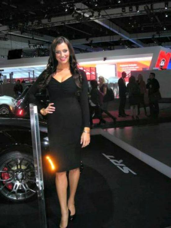 One of the product represents of the 2012 LA Auto Show.