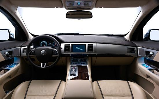 The interior of the 2014 Jaguar XLJ is plush.