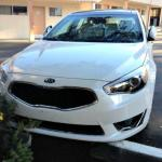 The 2014 Kia Cadenza has an odd-shaped front grille.