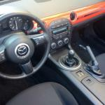 The Mazda MX-5 Miata has a short-shift, six-speed gearbox.