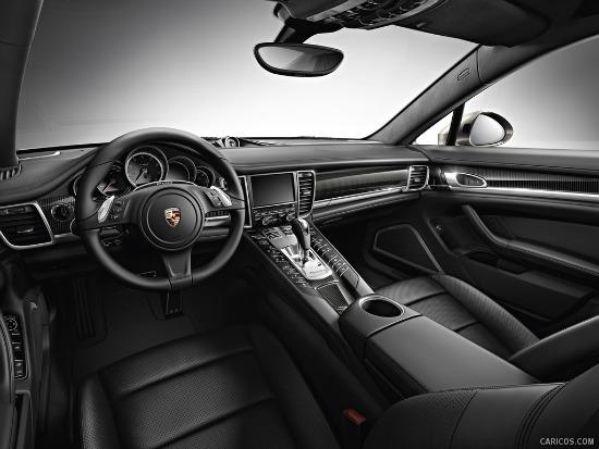 Restyled last year, the interior of the 2014 Porsche Panamera. is elegant.