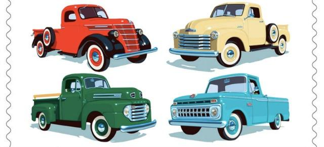 The legacy of pick-up trucks are being honored in a series of postage stamps.