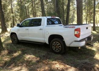 The newly designed 2014 Toyota Tundra.