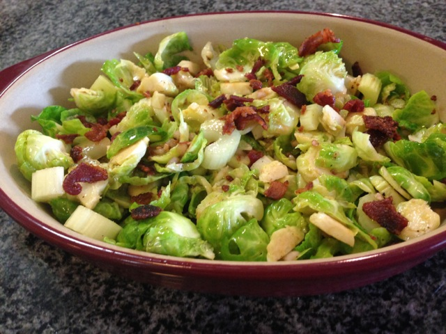 brussels sprouts with bacon and vinaigrette