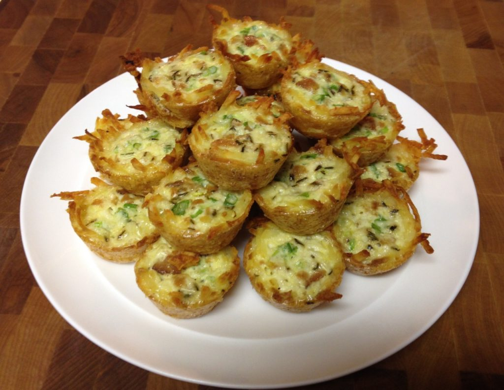 no cheese mini quiche with hash brown crust