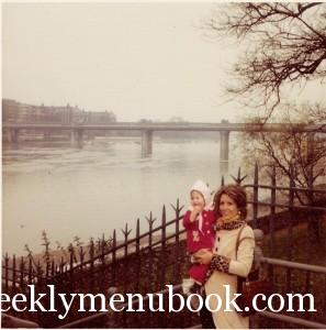 I think this is a picture of us in London before my brother was born - look at her fashionista coat!