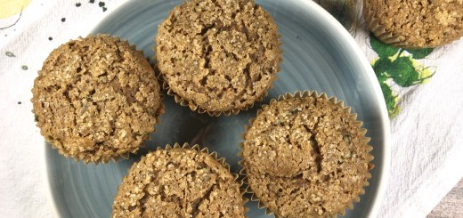Spiced zucchini muffins