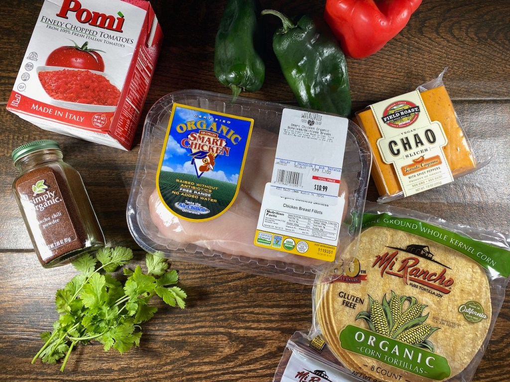 Ingredients to Make King Ranch Chicken Casserole