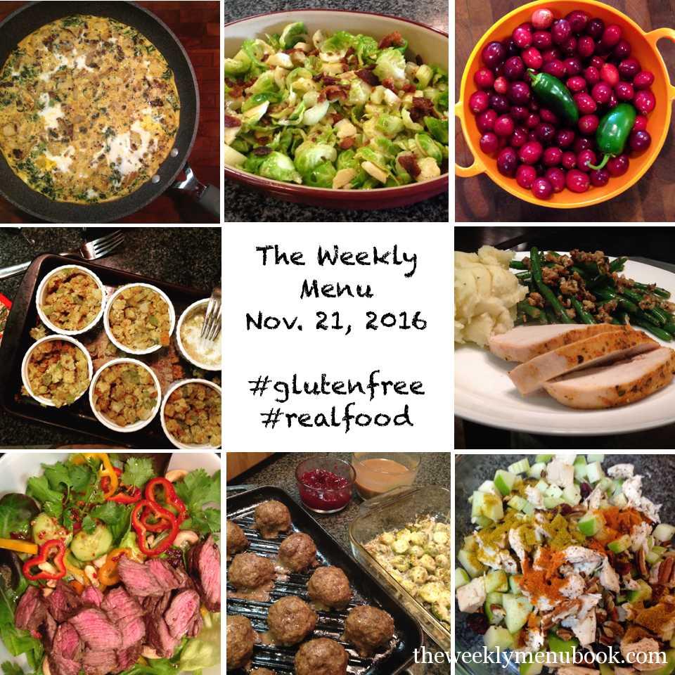 Gluten-free Thanksgiving Weekly Menu
