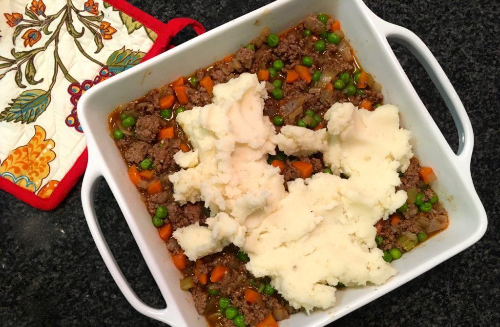 gluten-free bison shepherd's pie