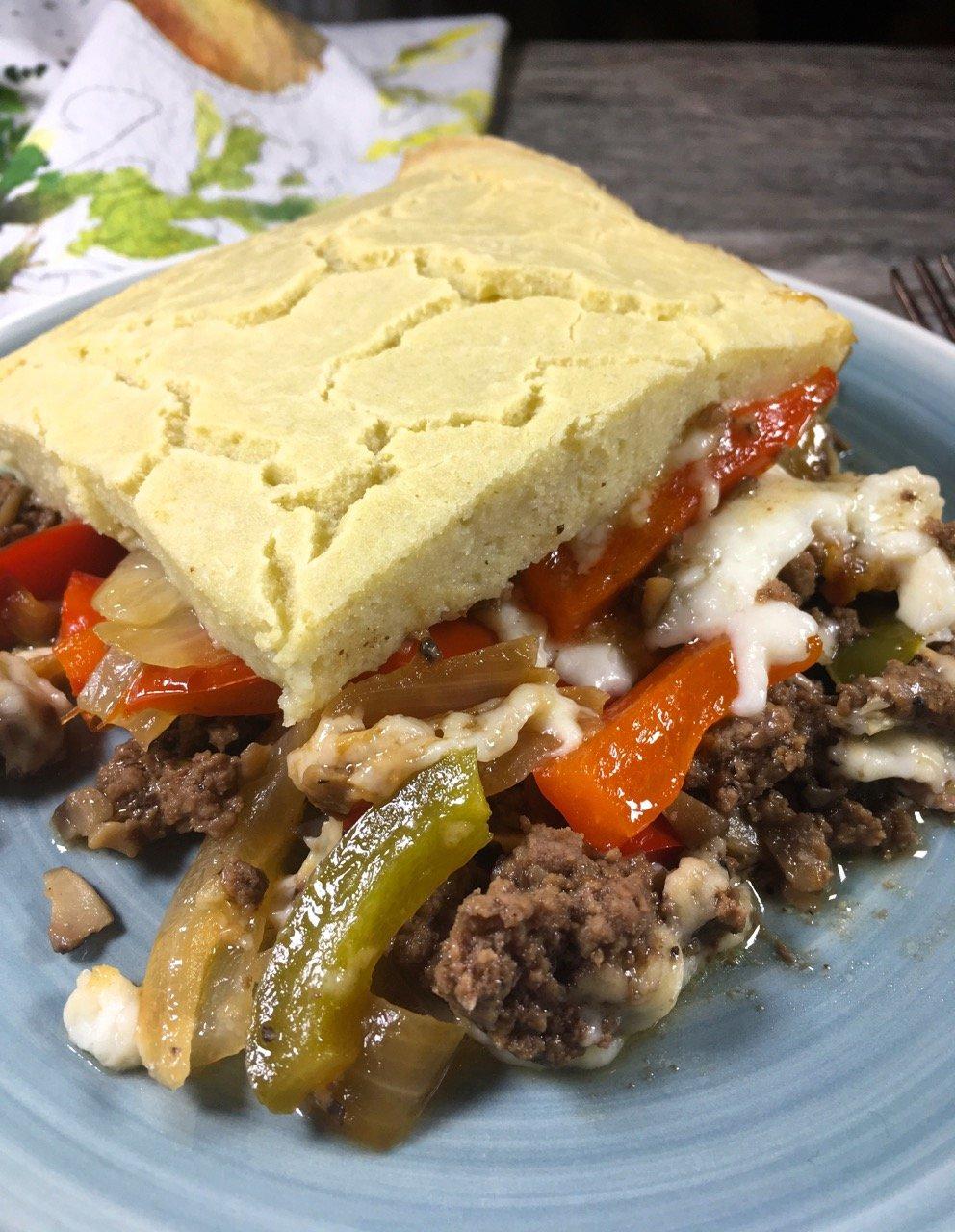 Gluten-Free Philly Cheesesteak Casserole