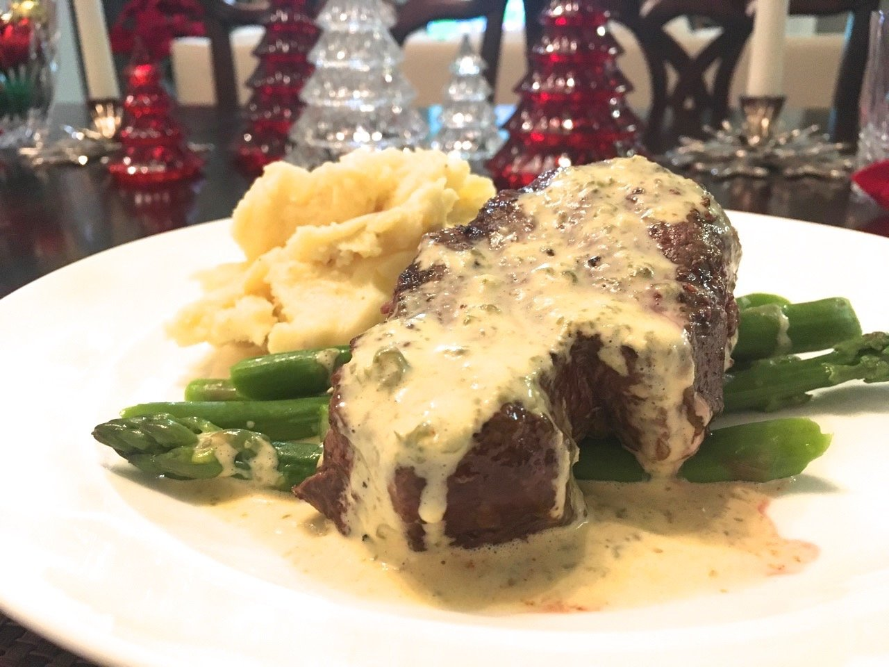 Christmas dinner - Filet Minion with Faux Béarnaise Sauce