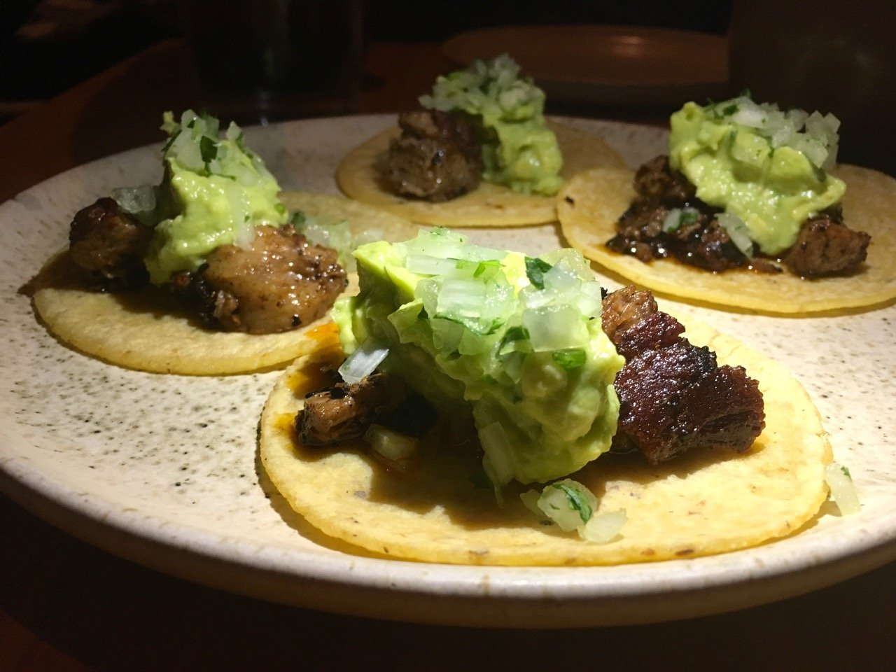 gluten free tacos at Suetre restaurant in Austin