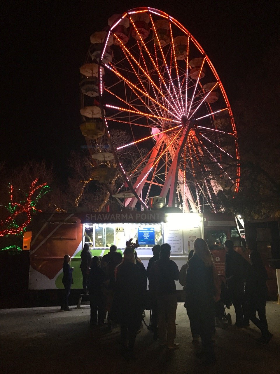 Gluten-Free food available at the Shawarma Point food truck at Austin Trail of Lights 2018