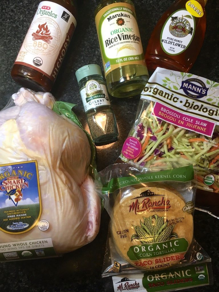 Ingredients for Healthy BBQ Tacos