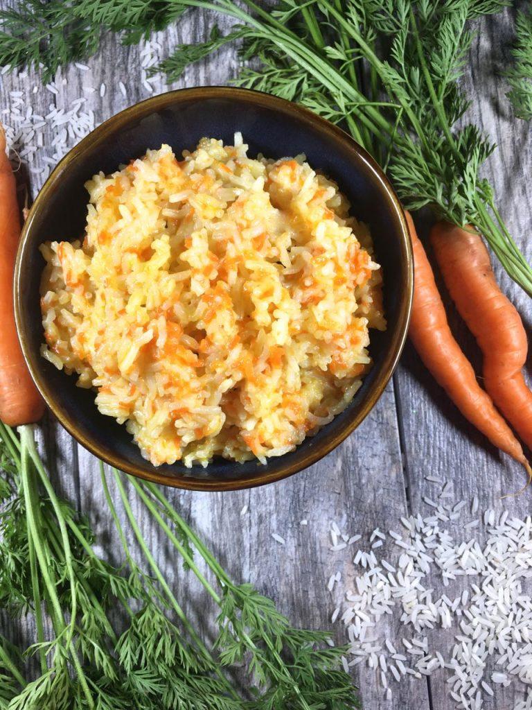 My mom's carrot rice, gluten-free, dairy-free