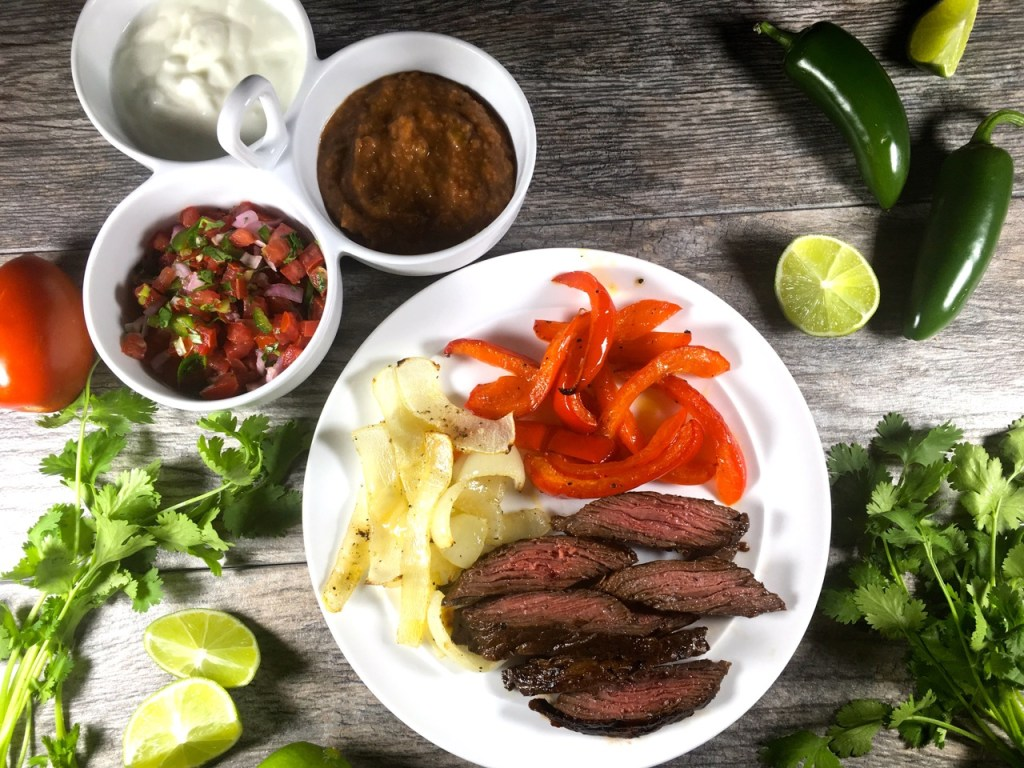Pepper Lime Beef Fajitas