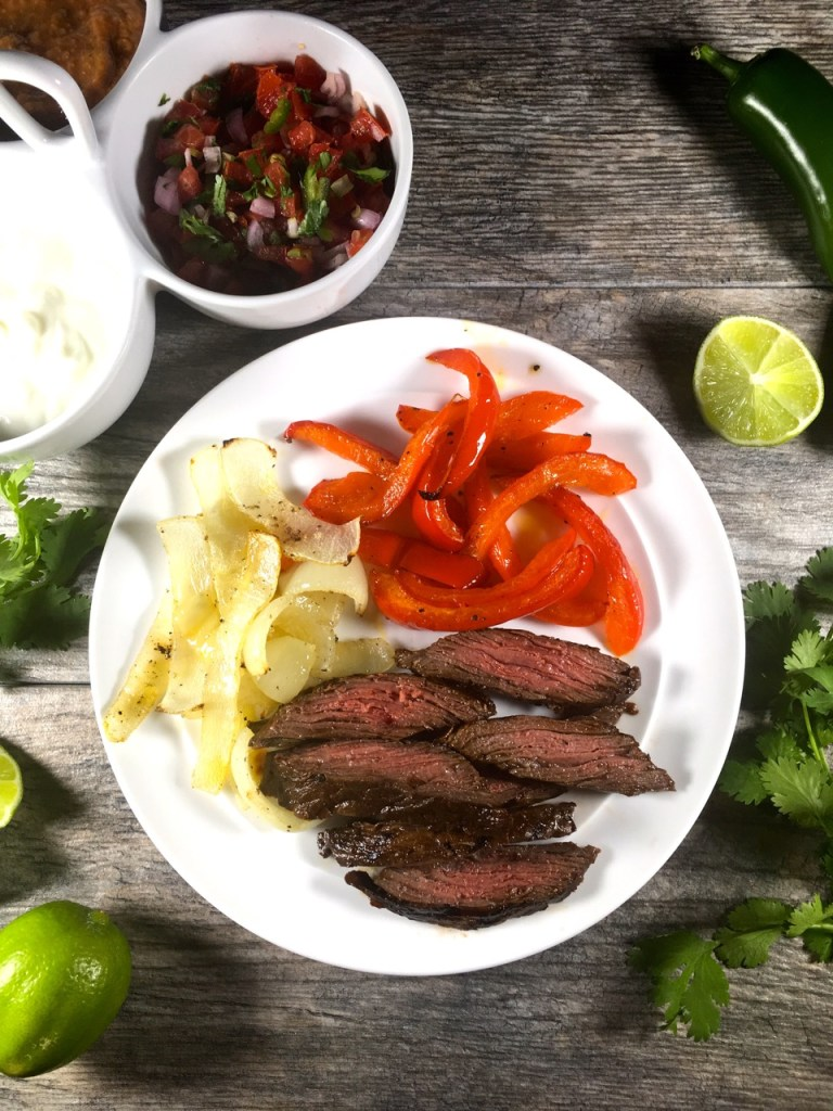 lime pepper beef fajitas